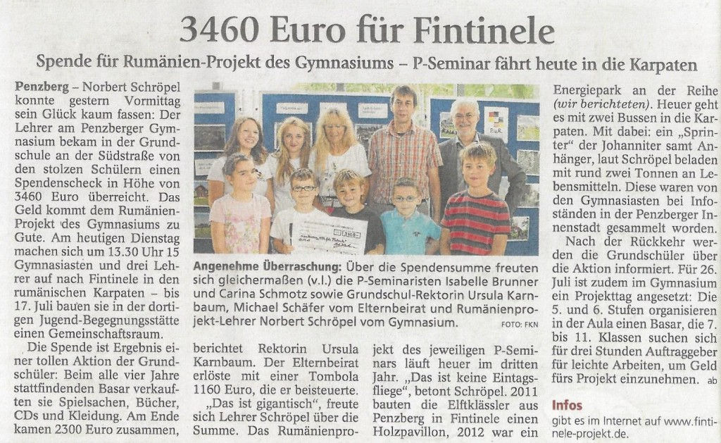 3460 Euro für Fintinele